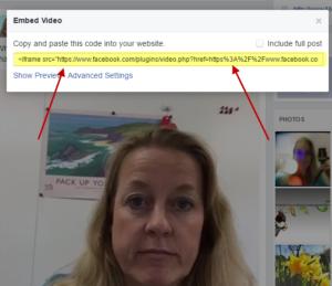 embedding facebook video