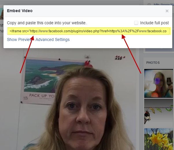 How to Embed A Facebook Video In A Webpage or Blogpost