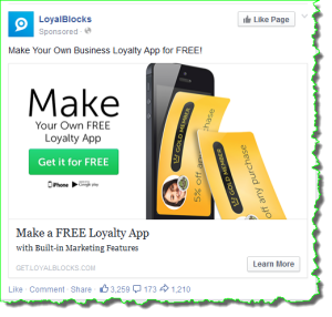 example of newsfeed ad image