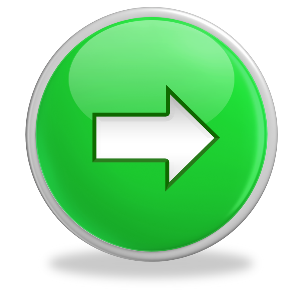 Glossy green button arrow right1 more business buzz - Green button ...