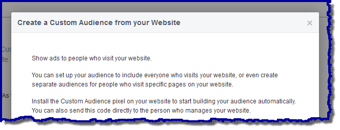 website custom audiences on Facebook picture
